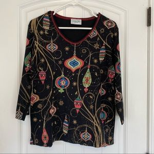 Cactus Bay Apparel 3/4 Sleeve Ornament Top Large